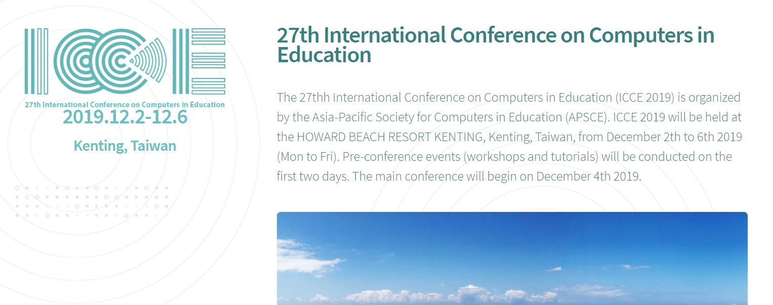 The official website of ICCE 2019 is launched!